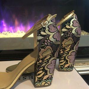 Guess platform jacquard shoes